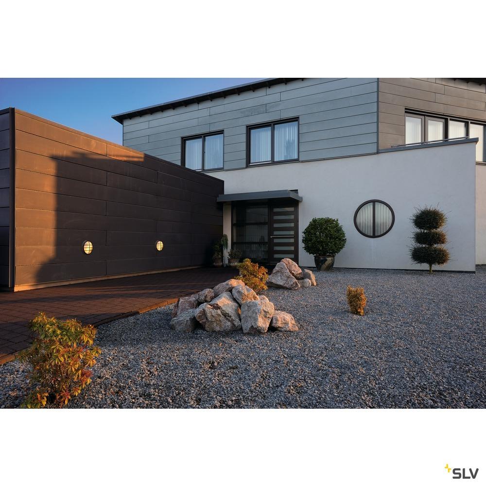 BULAN GRID, Outdoor Wand- und Deckenleuchte, A60, IP55, rund, anthrazit, max. 50W, PC Cover