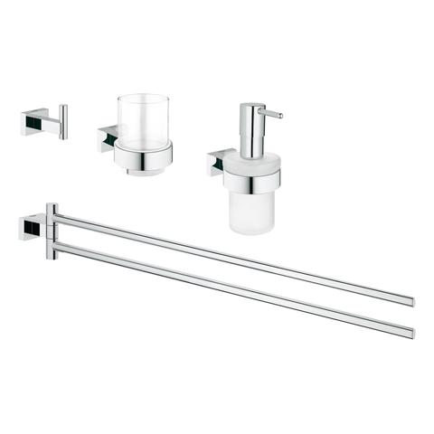 GROHE Waschtisch-Accessoire Set 4-in-1 Essentials Cube 40847_1 chrom