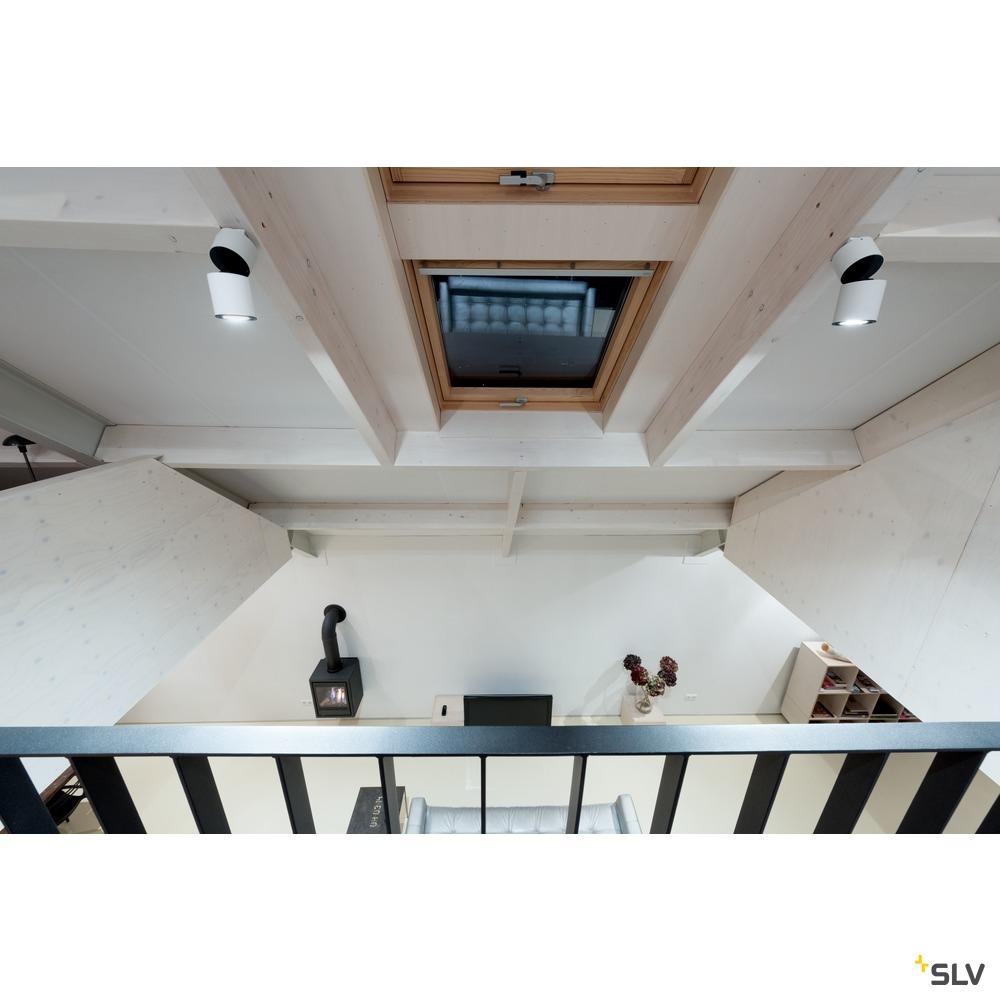 SUPROS 78, Deckenleuchte, LED, 3000K, rund, weiß, 60° Linse weiß