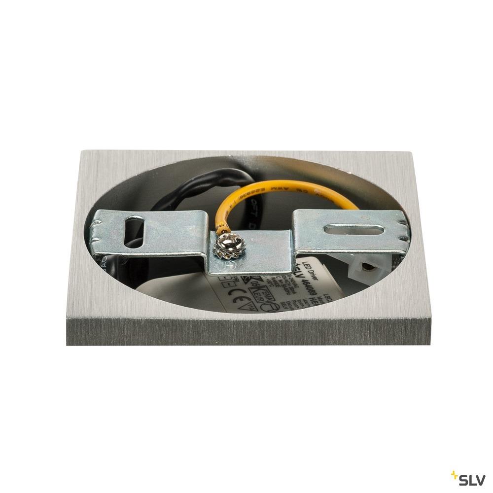 TRILEDO SQUARE CL, Deckenleuchte, LED, 3000K, eckig, aluminium gebürstet, 38°, 8,2W, inkl. Treiber weiß