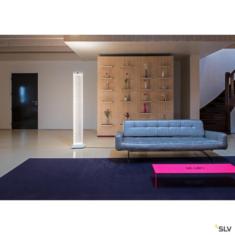 I-LINE TOUCH, Standleuchte, LED, 3000K, weiß, Acryl Seitenschirme, 1x11W, 10x2,1W