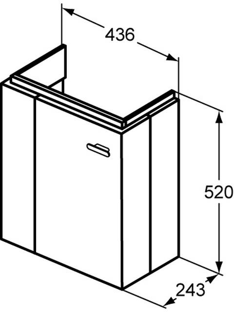 IS Tür Connect Space f. WTU E0370 Hgl.weiß lackiert
