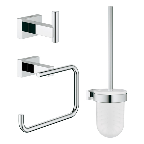 GROHE WC-Accessoire Set 3-in-1 Essentials Cube 40757_1 chrom