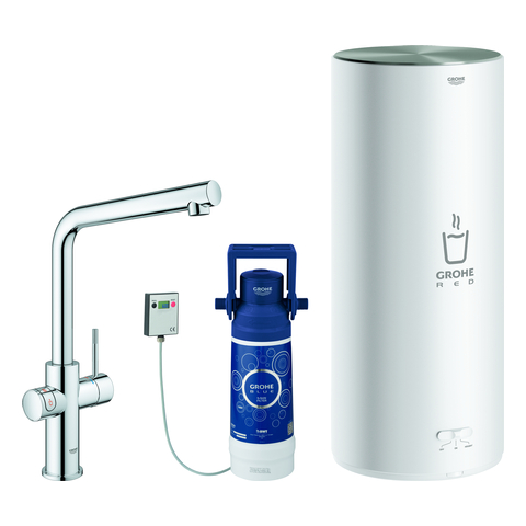 GROHE Armatur und Boiler GROHE Red Duo 30325_1 L-Size L-Auslauf chrom