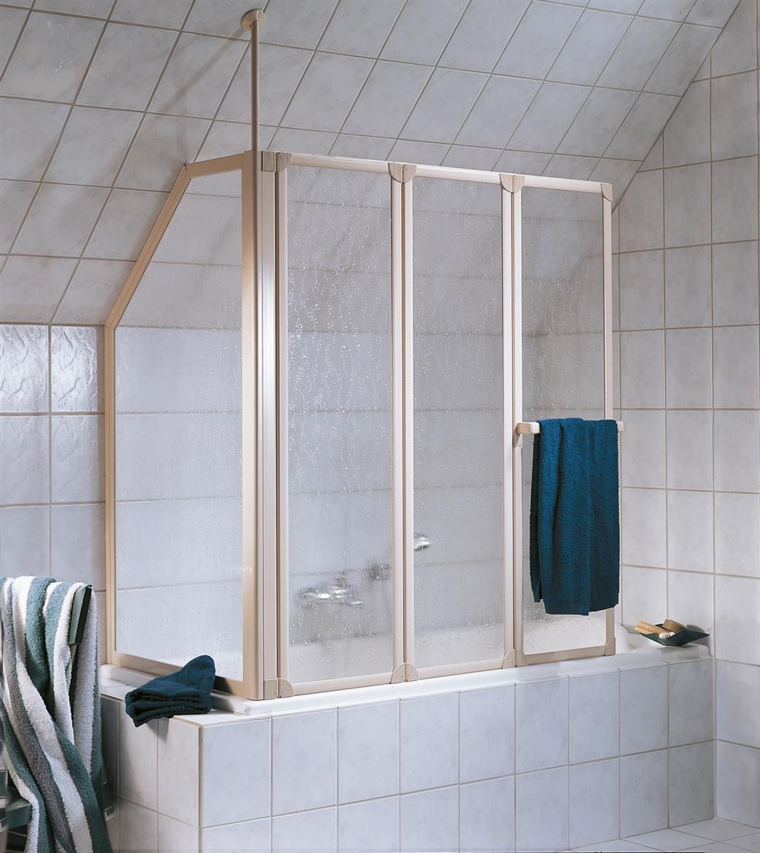 HSK Prima Badewannenaufsatz inkl. Handtuchhalter - 1288 mm
