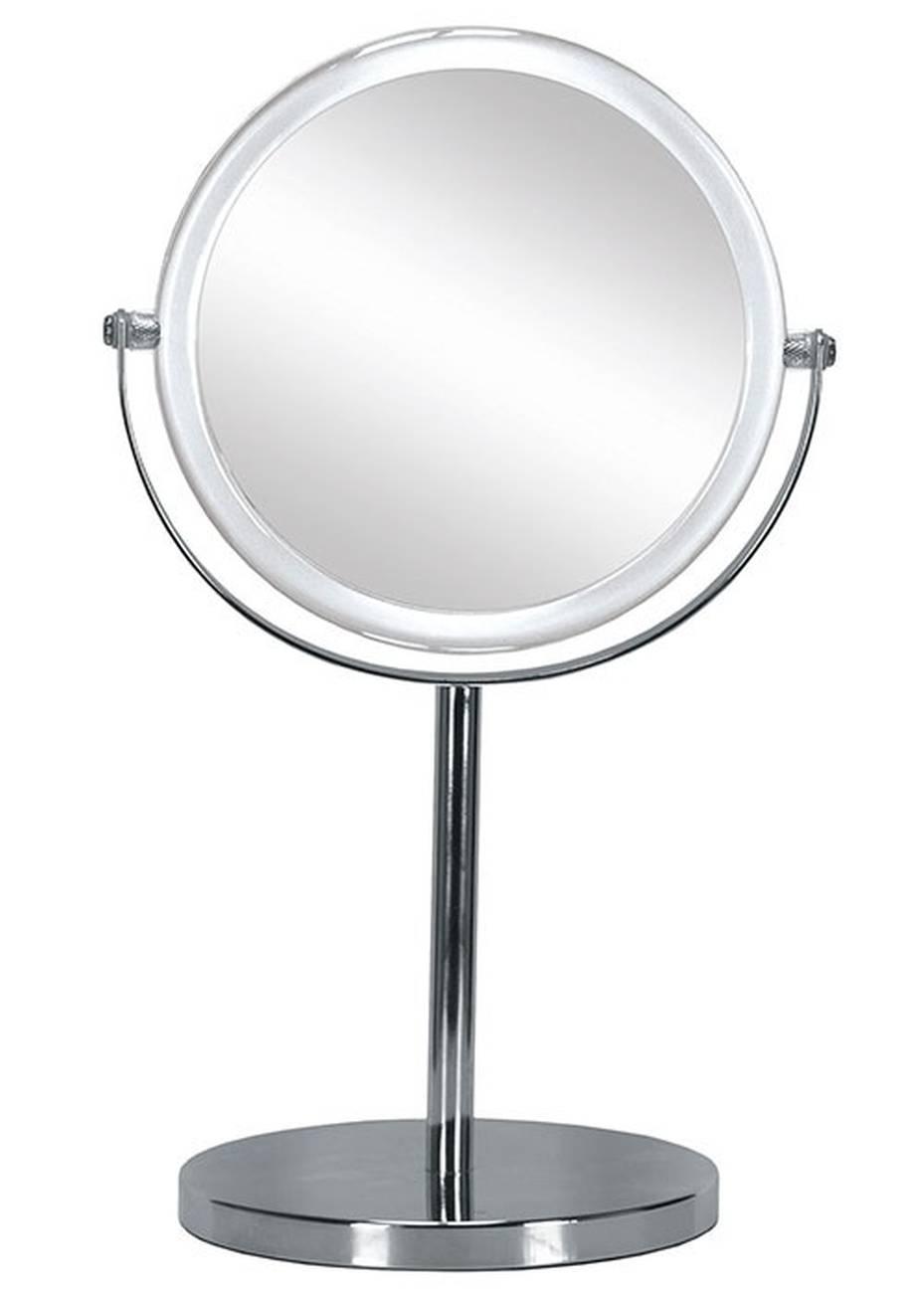Kosmetikspiegel Transparent Mirror Acryl/Glas/Metall chromiert Clear Spiegel