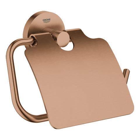 GROHE WC-Papierhalter Essentials 40367_1 mit Deckel warm sunset gebürstet