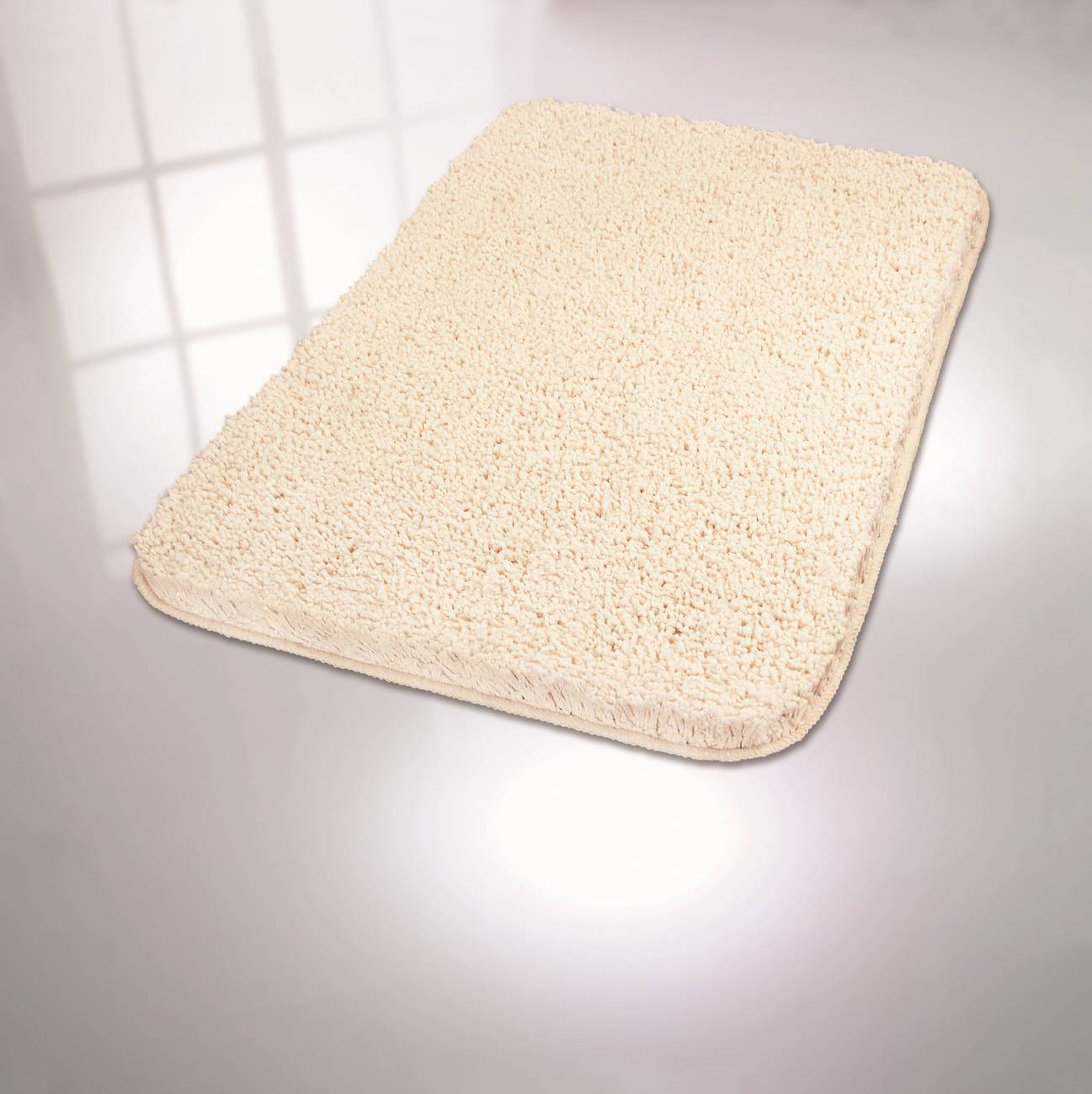 Badteppich Trend 100 % Polyester Weiss 70x120 cm