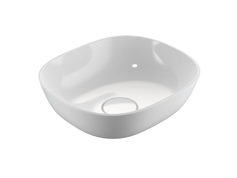 Treos Mineralguss Aufsatz Waschbecken