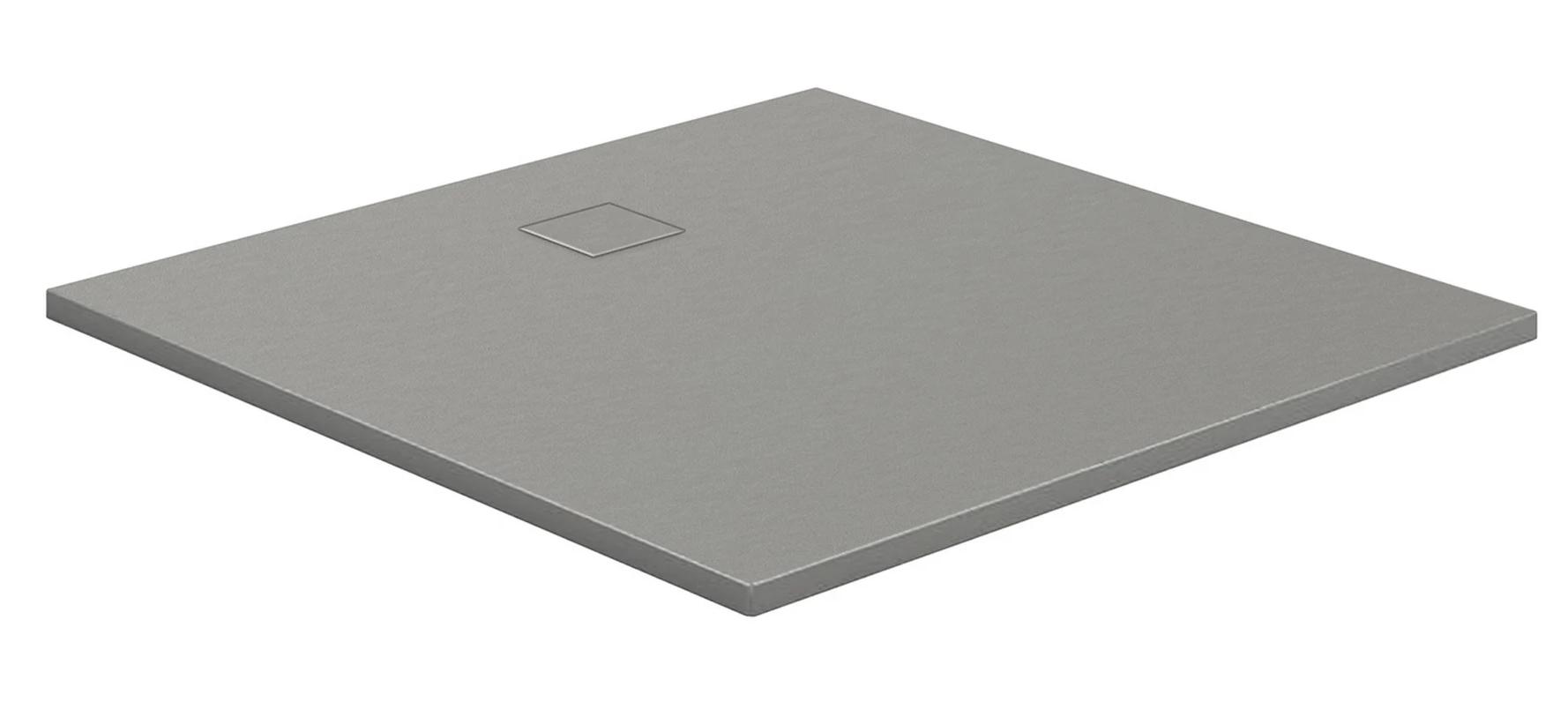 HSK Marmor-Polymer-Duschwannen, Steinoptik - Quadrat 120x120 Anthrazit ohne AntiSlip-Beschichtigung