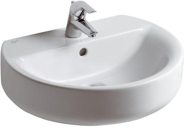 IS Waschtisch Connect Sphere 1Hl. m.Ül. 550x455x175mm Weiß