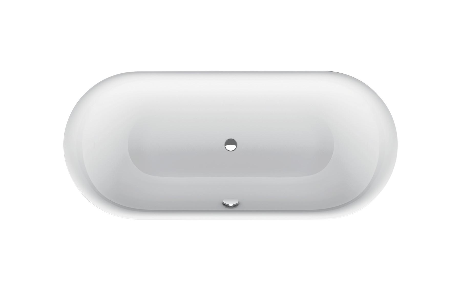 Bette Lux Oval - 1800×800 mm Manhattan (002) inkl. Antirutsch exkl. Wannenträger