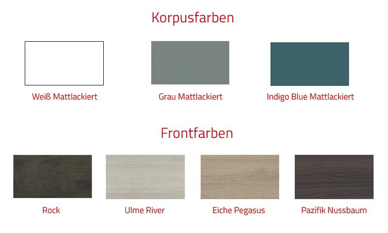 """Neapel"" Badmöbel-Set 80 cm Grau Mattlackiert Ulme River inklusive Wandschrank LED 800 mm"