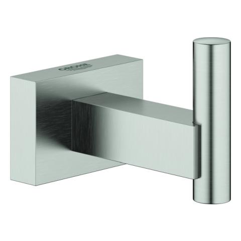 GROHE Bademantelhaken Essentials Cube 40511_1 Metall supersteel
