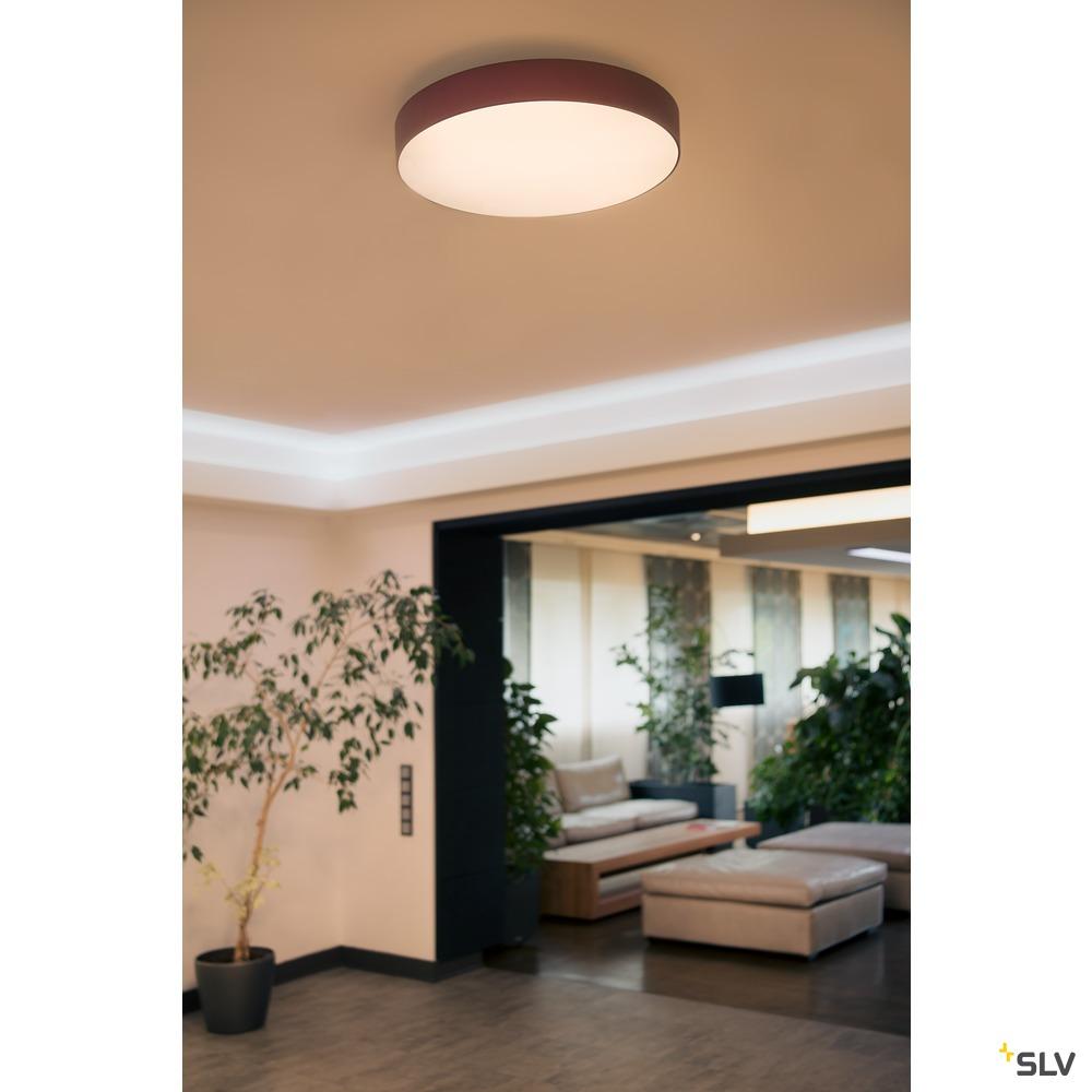 MEDO 90, Deckenleuchte, LED, 3000K, rund, weinrot, Ø 90 cm, zur Pendelleuchte umrüstbar, 120W weiß