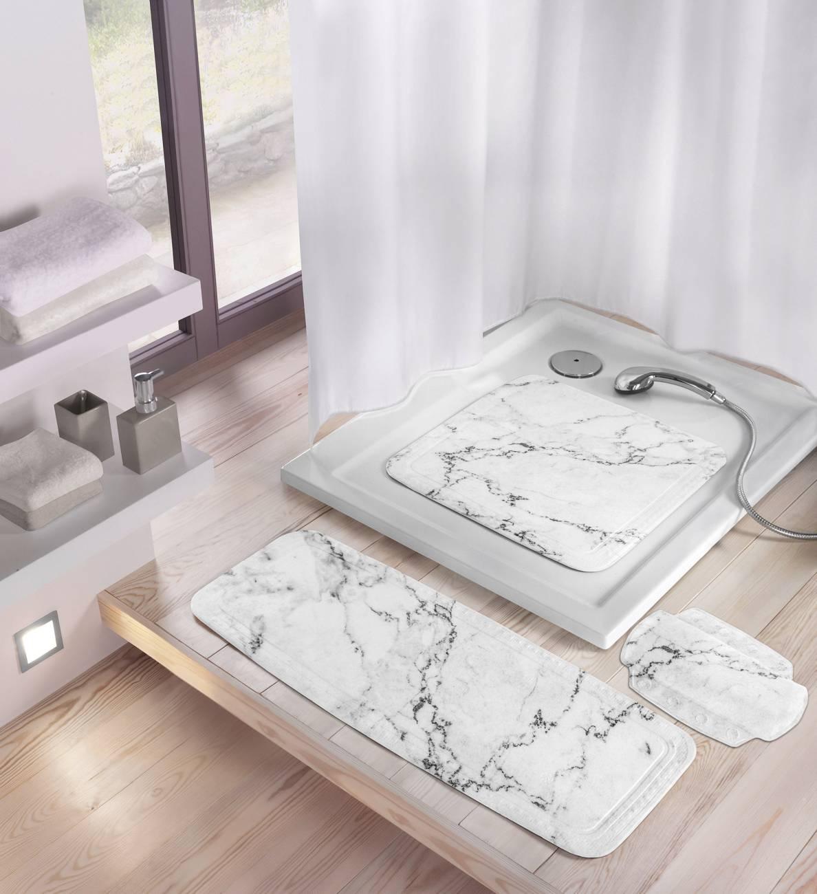 Nackenpolster Marble PVC Anthrazit 32x 22 cm