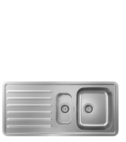 HG Einbauspüle 340x150 mit Abtropffläche S4111-F540