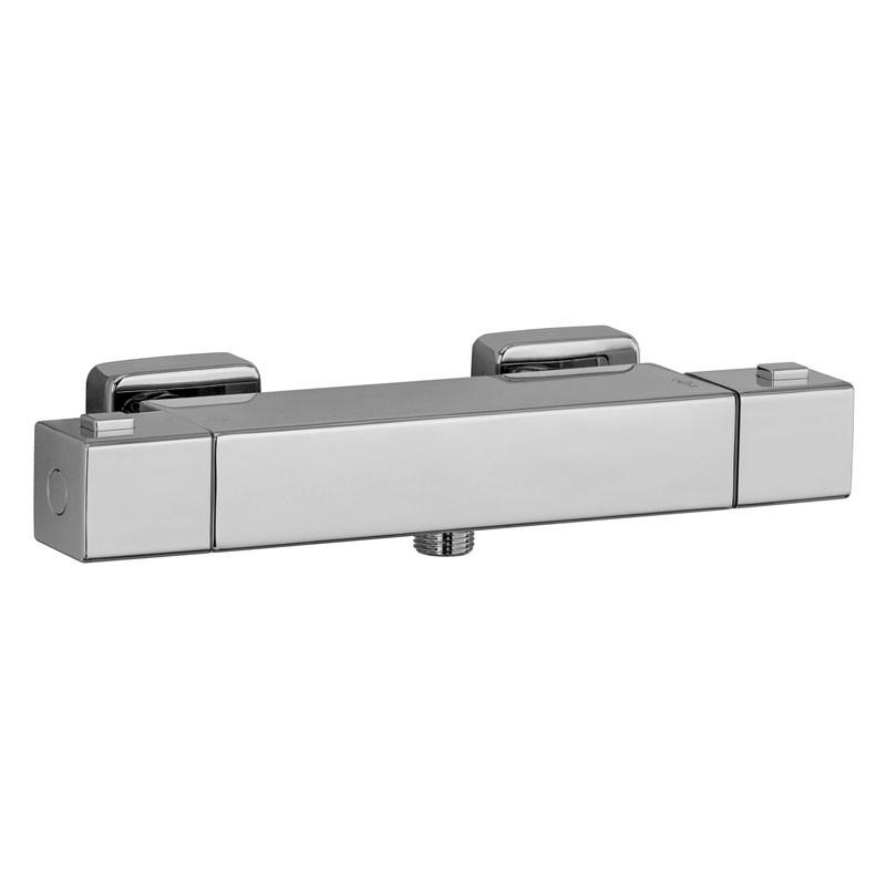 HSK Shower & Co! Aufputz-Sicherheits-Duschthermostat Basic, Eckig