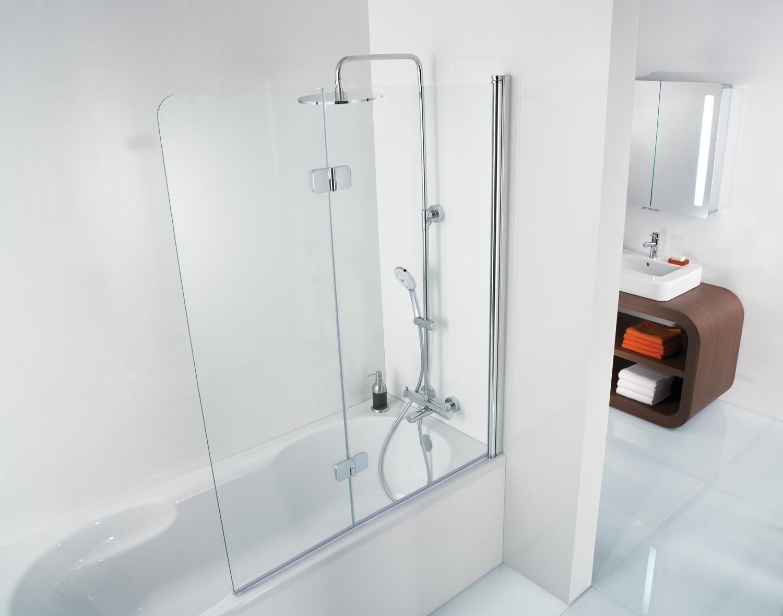 HSK Premium Softcube Badewannenaufsatz, 2-teilig - 1000 mm Links Alu Silber-Matt Grau mit Beschichtung inkl. Aufmaßservice