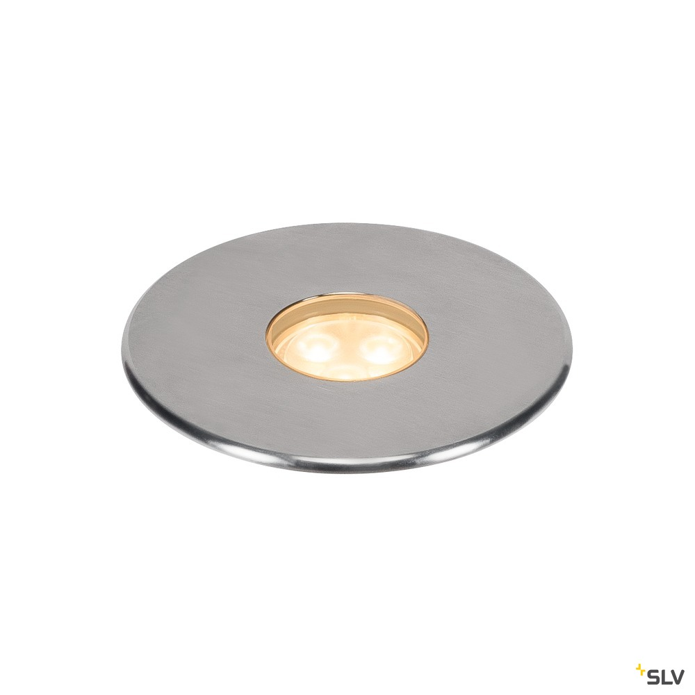 DASAR 100 PREMIUM, Outdoor Bodeneinbauleuchte, LED, 3000K, IP67, rund, edelstahl, 24°, Ø/H 10,5/9,43 cm, 3,8W