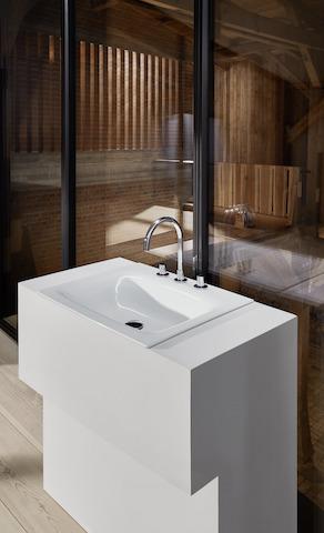 Bette Lux Einbauwaschtisch inkl. Hahnloch - 800x495x120 mm Weiß
