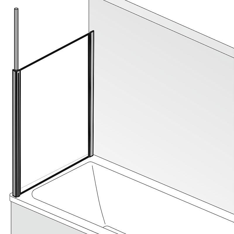 HSK Premium Softcube Seitenwand - 700 mm Links inkl. Aufmaßservice mit Beschichtung Chromoptik Chinchilla