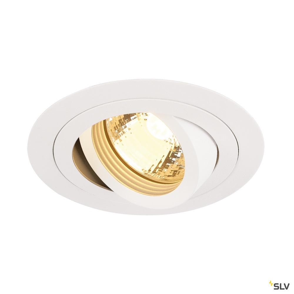 PIREQ GU10 ROUND Downlight,mattweiss, max. 50W, inkl.Clipfedern