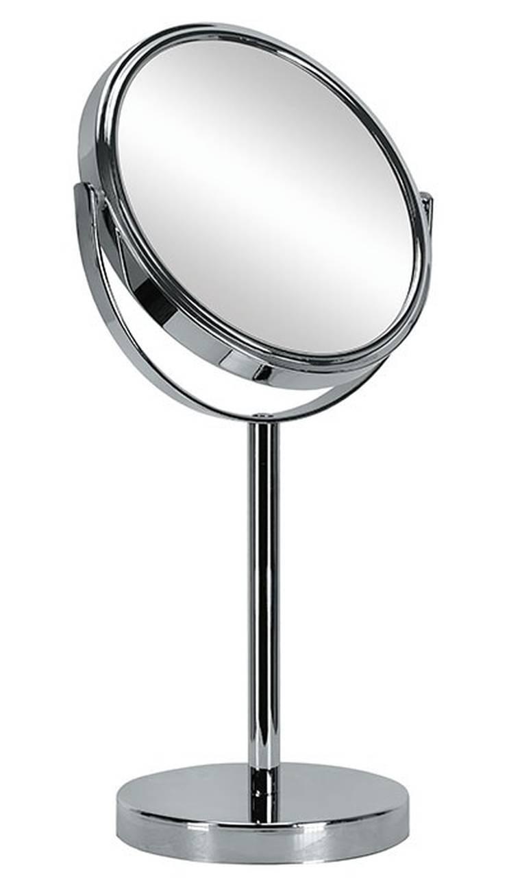 Kosmetikspiegel Base Mirror Edelstahl/Glas Silber Spiegel
