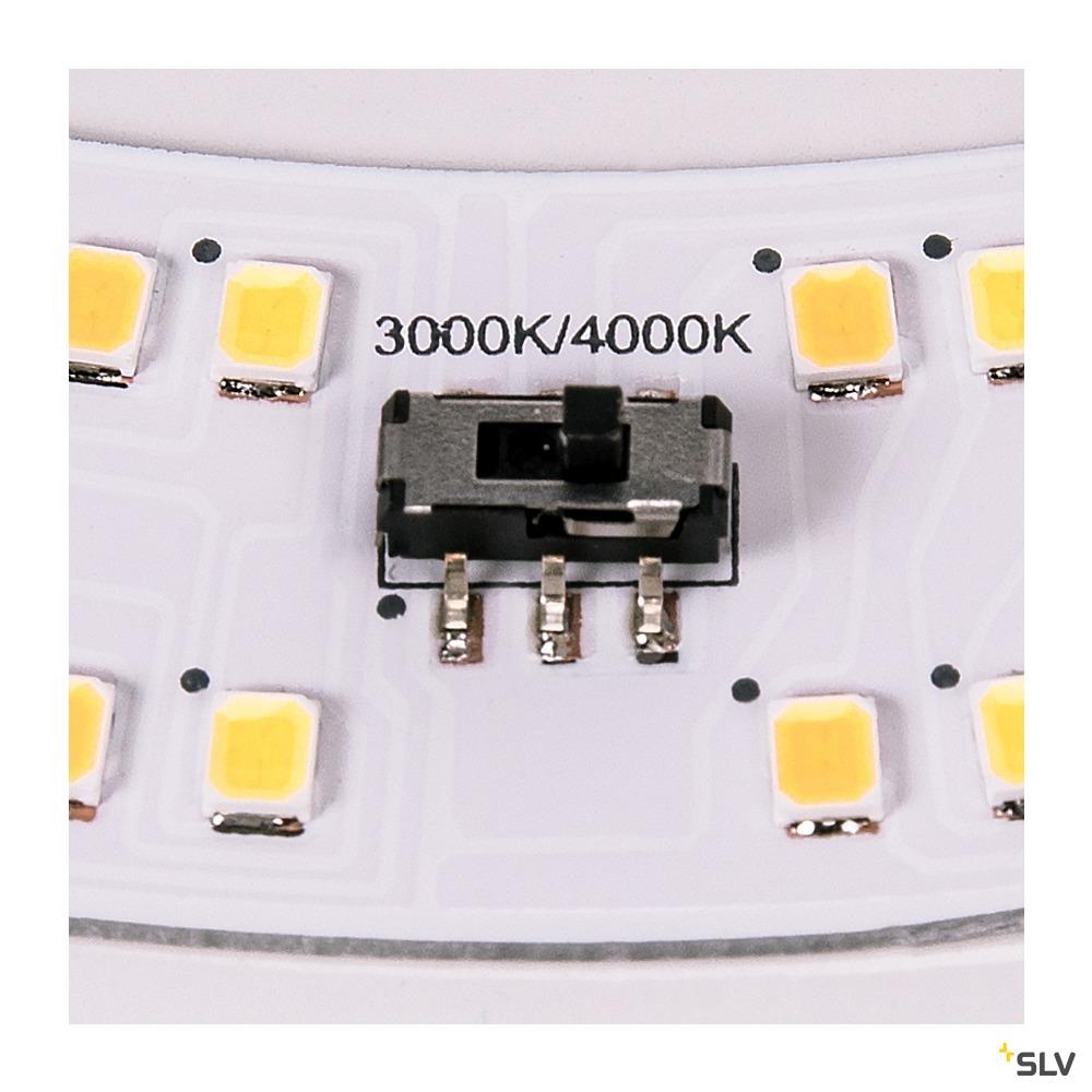 LIPSY 50 Drum CW, LED Outdoor Wand- und Deckenaufbauleuchte, weiß, IP44 3000/4000K