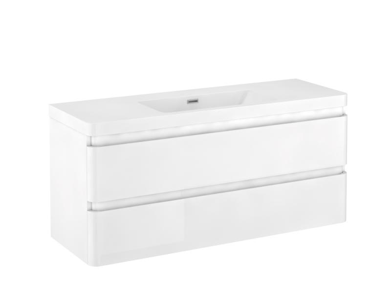 Treos Badmöbel ohne Hahnloch, weiss-lack, 1200x420x550 mm