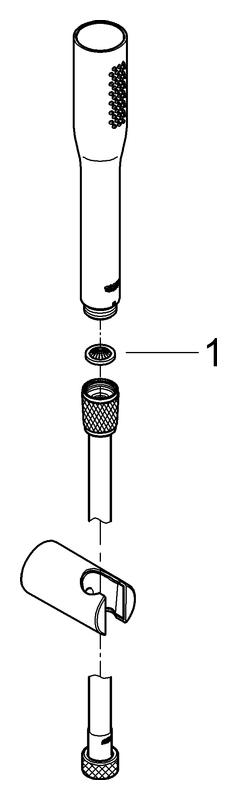 GROHE Wandhalterset Euphoria C Stick 27369 Durchfluss 9,5l/min chrom