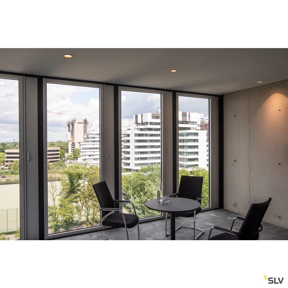 NUMINOS® DL L, Indoor LED Deckeneinbauleuchte weiß/chrom 4000K 55°