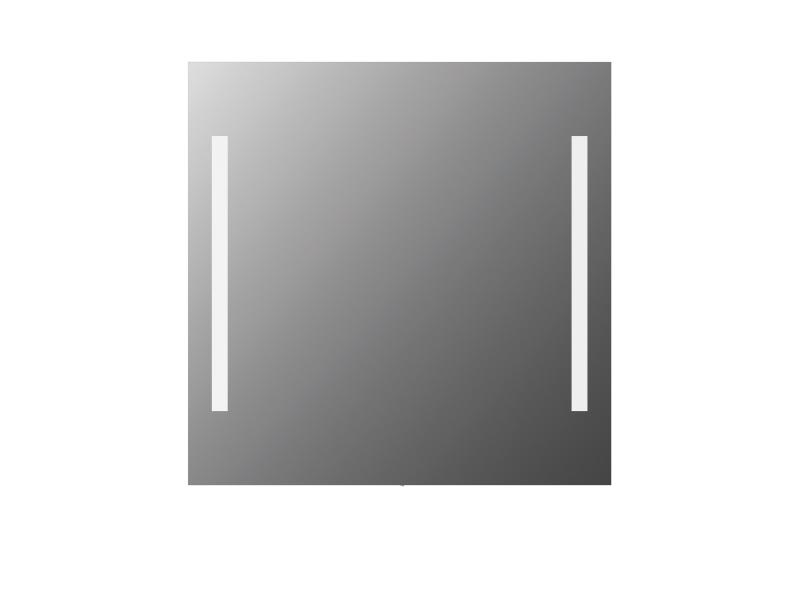Treos Led Wandspiegel eckig 800x800 mm