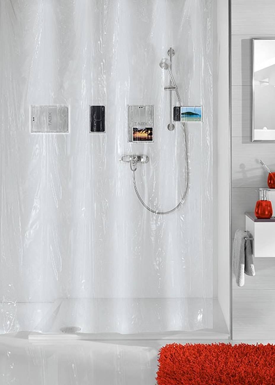 Duschvorhang Pocket PEVA Clear 180x200 cm