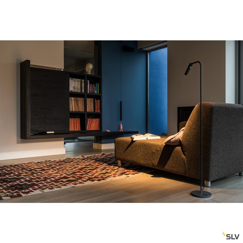KARPO FL, LED Indoor Stehleuchte, schwarz, 3000K