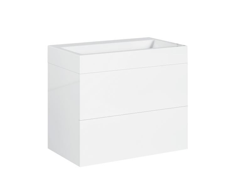 Treos Badmöbel ohne Hahnloch, weiss-lack, 700x420x600 mm