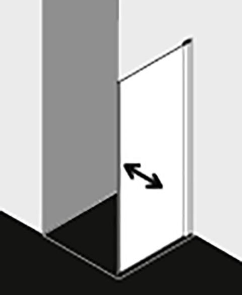 Kermi Seitenwand Diga TBL 1100x 1850 BV: 1080-1100 SIHG ESG Opaco Clean