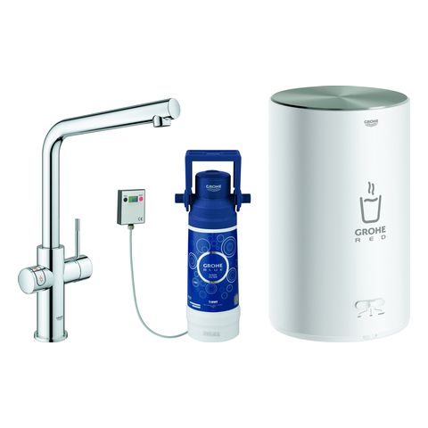 GROHE Armatur und Boiler GROHE Red Duo 30327_1 M-Size L-Auslauf chrom