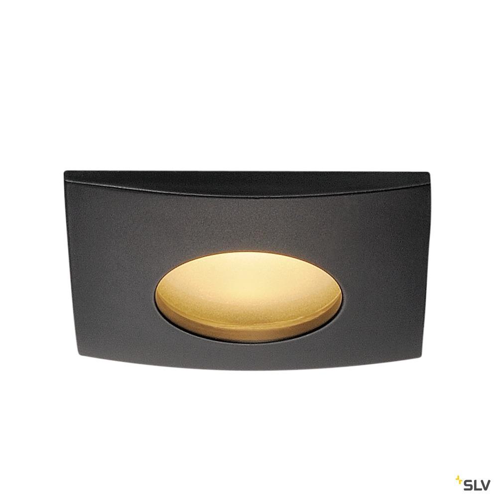 OUT 65, Outdoor Deckeneinbauleuchte, LED, 3000K, eckig, schwarz, 38°, 12W, inkl. Treiber