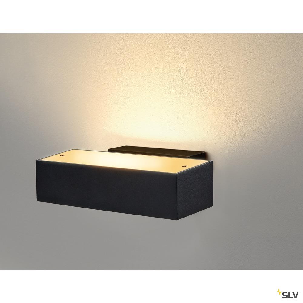ANDREAS QT-DE12, Indoor Wandaufbauleuchte, schwarz