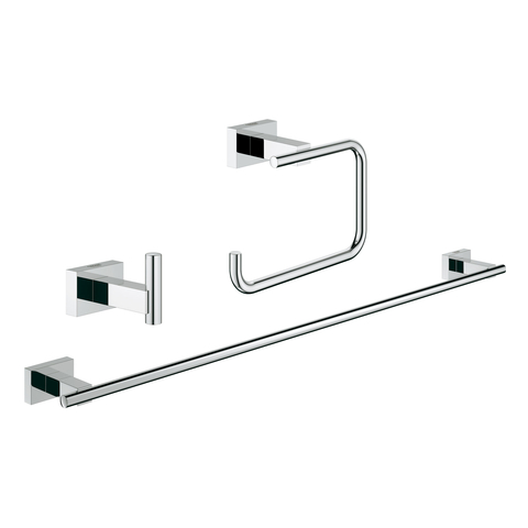GROHE Bad-Accessoire Set 3-in-1 Essentials Cube 40777_1 chrom