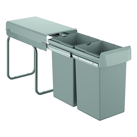 GROHE Mülltrennsystem GROHE Blue 40855 30cm zweifach, 2 x 15 Liter grau