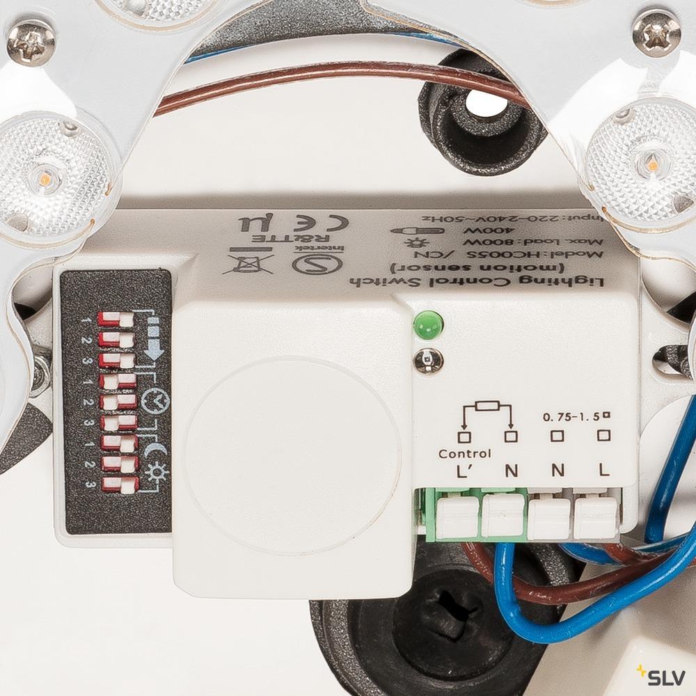 AINOS, Deckenleuchte, LED, 3000K, rund, anthrazit, mit Sensor weiß