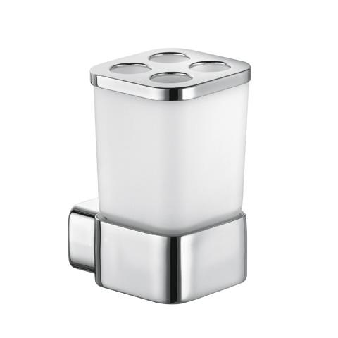 KLUDI E2 Universal Glashalter mit Multifunktionsaufsatz chrom
