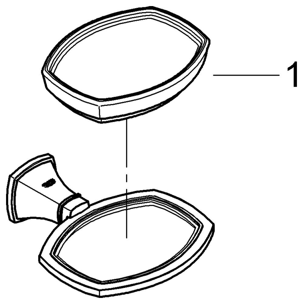 GROHE Halter Grandera 40628 mit Keramik- Seifenschale weiß/chrom/gold