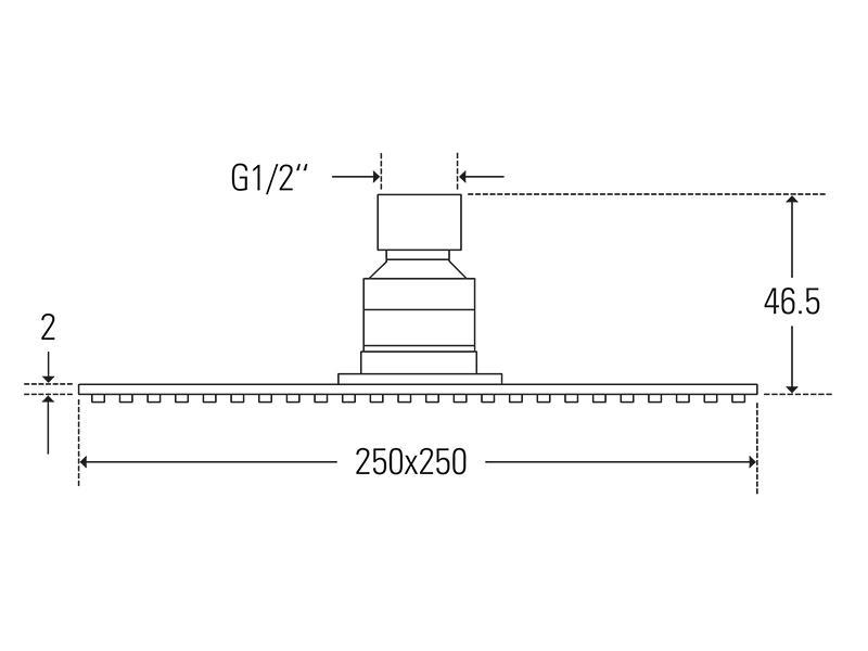 Treos Kopfbrause ultraflach 250x250 Serie 175