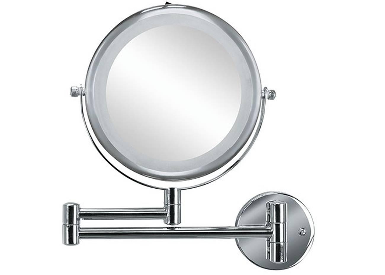 Kosmetikspiegel Brilliant Mirror Metall chromiert/Glas/LED Silber Spiegel