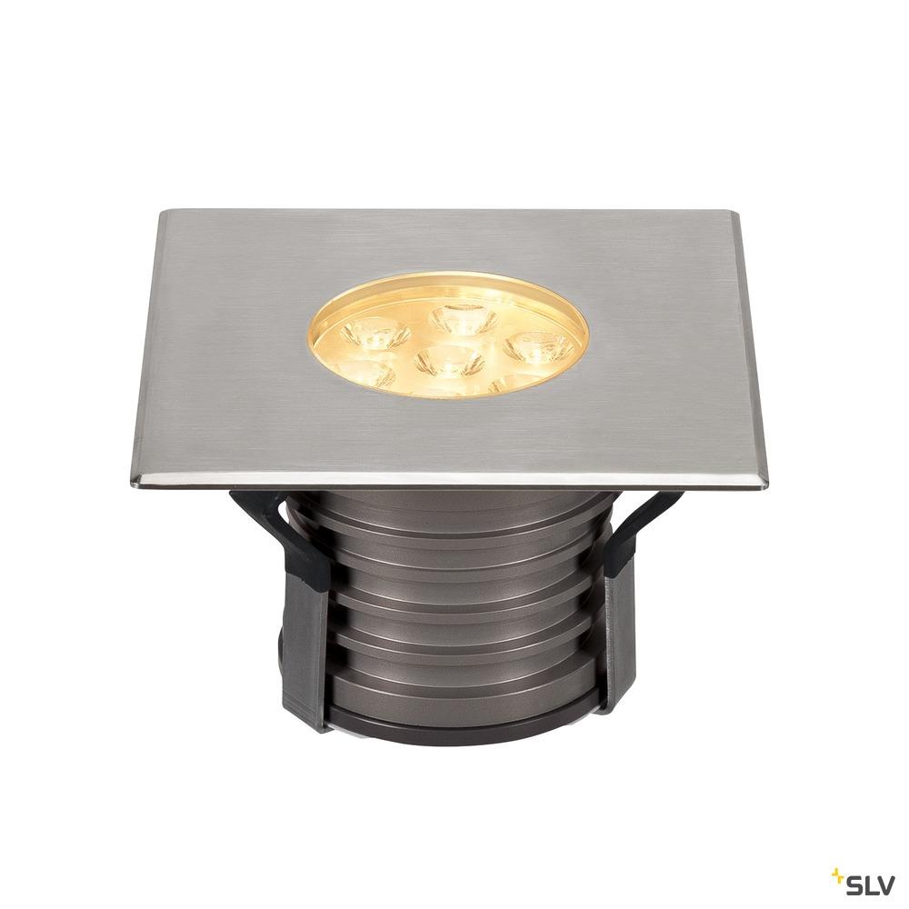 DASAR 150 PREMIUM, Outdoor Bodeneinbauleuchte, LED, 3000K, IP67, eckig, Blende edelstahl, 24°, L/B/H 14,8/14,8/11,26 cm, 13W