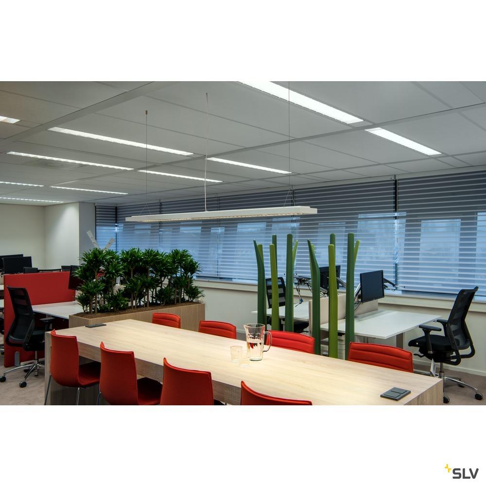 RASTO, Deckenleuchte, LED, 3000K, weiß, L/B/H 154,5/17,5/4 cm, 4900lm, 44W weiß