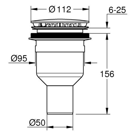 GROHE Ablaufgarnitur 49533 für Duschwanne Abgang senkrecht chrom